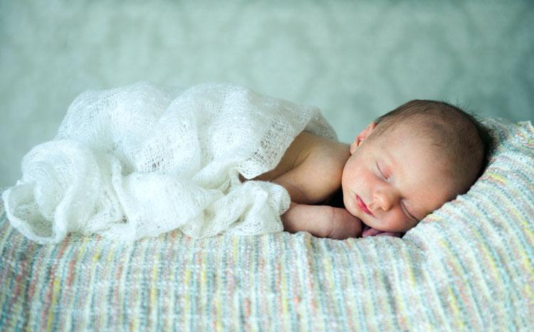 Photo of baby sleeping